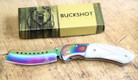 Buckshot Knives Thumb Open Spring Assisted Cleaver Classic Pocket Knife - PBK219WT