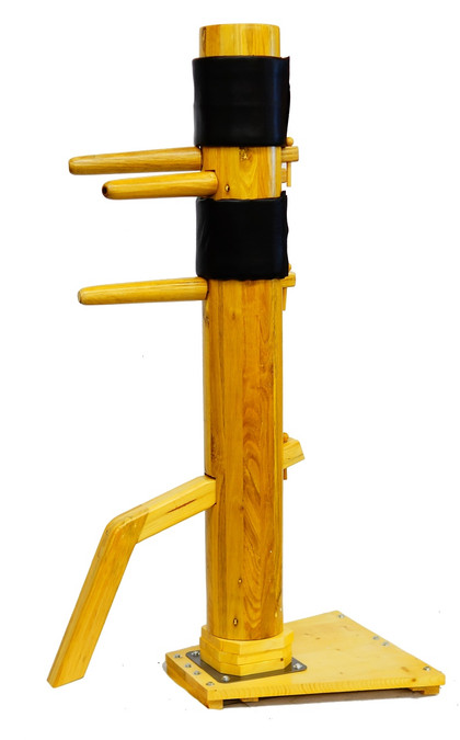 Traditional WING CHUN Solid Wooden Dummy Free Stand Frame IP MAN Martial Art