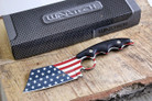 Wartech HWT214BK Proud Of America Cleaver Fixed Blade Hunting Knife