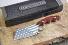 Wartech HWT214CH Proud Of America Cleaver Fixed Blade Hunting Knife