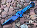 "7.5"" MULTI-TOOL WRENCH TACTICAL SPRING ASSISTED OPEN FOLDING POCKET KNIFE NEW - Blue"