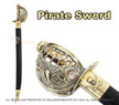 Mermaid Pirate Cutlass Sword with Basket Guard & Sheath