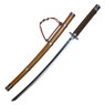 "41"" Black Mortal Blade Sekiro: Shadows Die Twice Black Scroll Sword w/ Brown Scabbard"