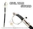 CSA Cavalry Saber Civil War Officer Sword Chrome
