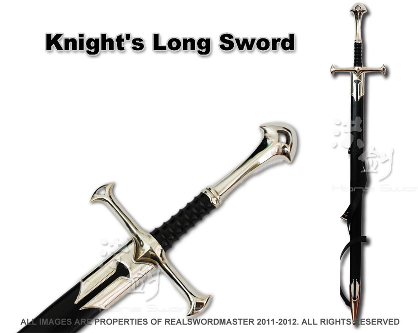 Medieval Anduril Two-Handed Great Sword With Scabbard
