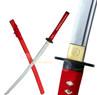Handmade Katana Red w/ Musashi Tsuba