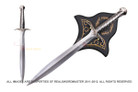 "22"" Polished Steel Fantasy Frodo's Sting Sword With Plaque"