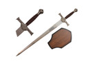 "43"" Clan MacLeod Claymore Sword with Wooden Plaque"