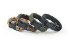 "10"" Paracord Bracelet / Emergency Whistle - Green Camo"
