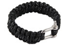 "10"" Paracord Bracelet with Metal Lock - Black"