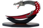 "11.5"" Fantasy Dragon Dagger with Stand Red Blade"