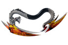 Fantasy Dragon Dagger Dragon Graphic Stainless Steel Blade Aluminum Handle