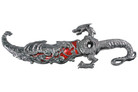 Fighting Dragon Fantasy Dagger Knife Red