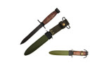 """12"""" World War II WWII M3 bayonet Leather handle with Scabbard"""