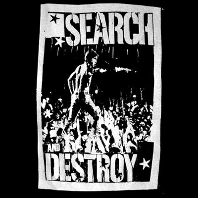 Iggy Pop Search and Destroy T Shirt - BlackSheepShirts