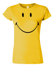 Smiley face Happy face funny music festival T shirt BlackSheepShirts