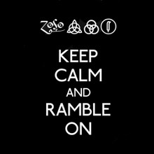 Keep Calm and Ramble On T Shirt  BlackSheepShirts