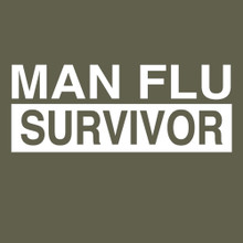 MAN FLU SURVIVOR T Shirt BlackSheepShirts