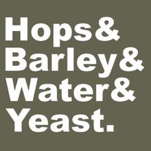 Hops & Barley & Water & Yeast. T Shirt BEER!