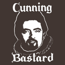 Blackadder t shirt TV cult comedy The Black Adder Cunning Bastard!