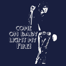 Jim Morrison T Shirt funny light my fire! vintage rock tee