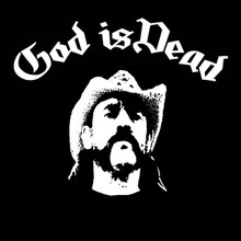 Lemmy Kilmister GOD IS DEAD T Shirt Motorhead Lemmy!