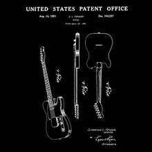 1951 Leo Fender Telecaster Guitar US Patent T Shirt