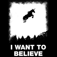 I want to believe T Shirt Funny Unicorn tee