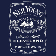 Neil Young T Shirt 1973 concert poster Harvest Tonights the night