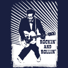 ROCKIN AND ROLLIN Chuck Berry T shirt