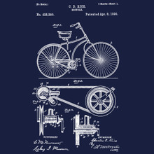 Bicycle Patent T shirt vintage retro