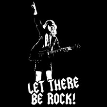 Angus Young T Shirt AcDc  Let There Be Rock!