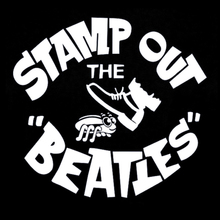 Stamp out the Beatles T Shirt worn by George Harrison
