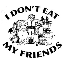 I Don't Eat My Friends T-shirt worn by Morrissey vegan vegetarian
