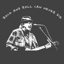 Neil Young T-Shirt Rock and roll can never die!
