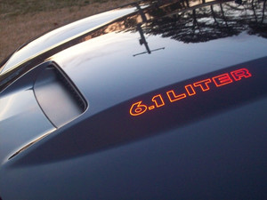 06-08 Dodge Charger Cowl Hood Decals