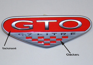 04-06 GTO Fender Emblem Background & Checkers