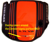 05-08 300C 5.7L Engine Cover FRONT Overlay