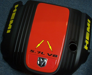 05-08 300C 5.7L V8 Engine Cover Letter Overlays