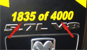 06-08 Dodge Charger Limited Edition Numbering