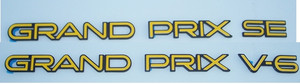 88-96 Grand Prix DOOR Badge Overlays (set of 2)