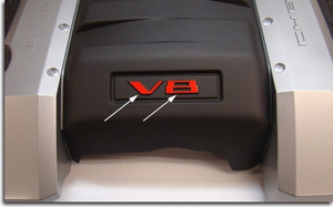 V8 Overlay - 2010 2011 2012 2013 2014 Camaro SS Engine Cover