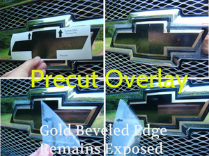 How to apply.  Gloss Black. Precut overlay