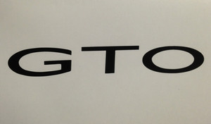 GTO Badge Overlay Decal