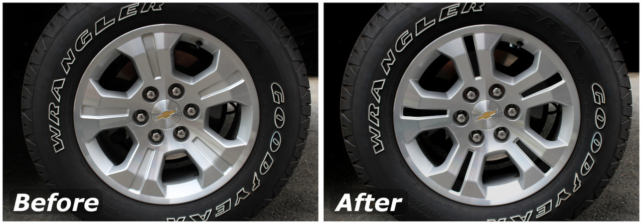 Z71 Wheel Accent Decals 2014 2018 Silverado Z71