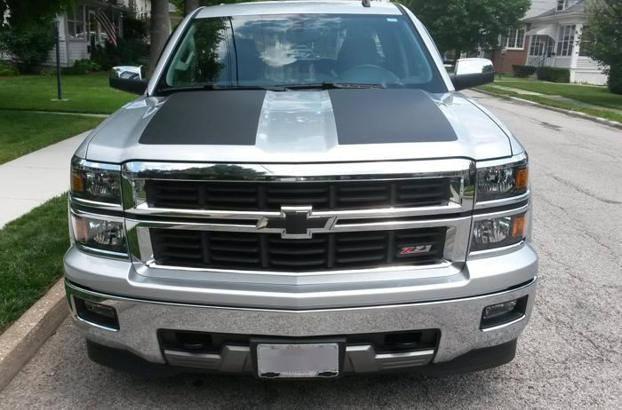 Side Hood Stripe Decals 2014 2018 Silverado 1500