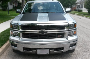 Side Hood Rally Stripe Kit Chevrolet Silverado Decals