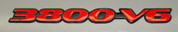 97-99 Grand Prix 3800 V6 Badge Overlay