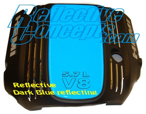 Engine Cover Centerpiece Overlay Decal - 09+ Challenger 5.7L