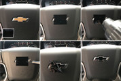 2014 2015 2016 2017 2018 Silverado Bowtie Decal Wrap - Gloss Black
